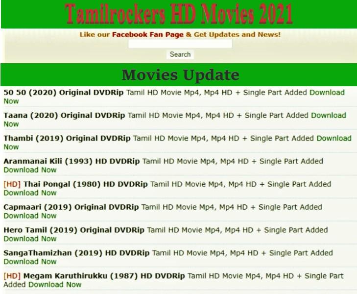 Tamilrocker HD Movies 2021